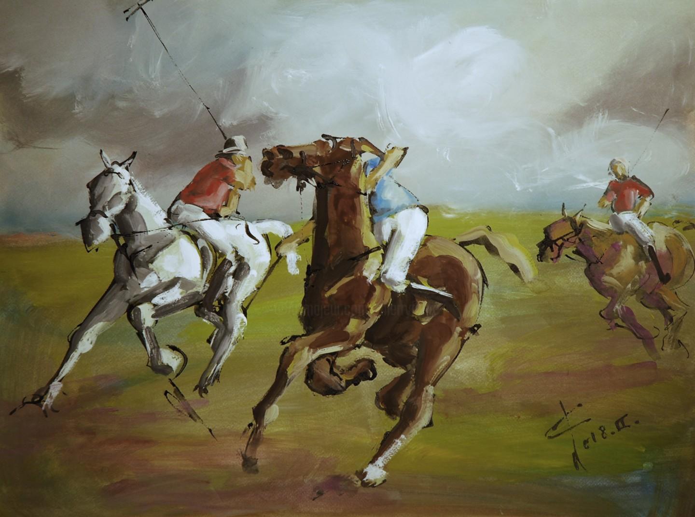 THIERRY FAURE - Etude gouachée de polo